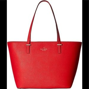 Kate Spade large red tote with matching wallet